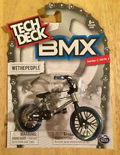 Tech Deck BMX Bike WETHEPEOPLE Silver Grey With Blue Wheels Series 2 NEW