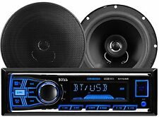 "Boss Audio Combo Set Car Stereo InDash Receiver Bluetooth +6.5"" 2 Way Speaker"