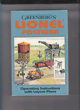-GREENBERG'S LIONEL POSTWAR OPERATING INSTRUCTIONS WITH LAYOUT PLANS-RARE/HI GRD
