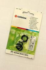 Gardena Dichtungssatz, Art. 1126, 3 O-Ringe + 1 Dichtring für Hahnstück 1/2 Zoll