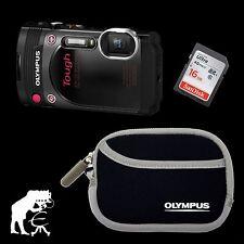 Olympus TG-870 schwarz · wasserdicht · fall- & stoßsicher + WiFi + 16 GB