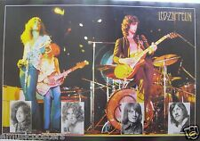 "LED ZEPPELIN ""GROUP PLAYING IN CONCERT + HEAD SHOTS OF BAND"" POSTER FROM ASIA"