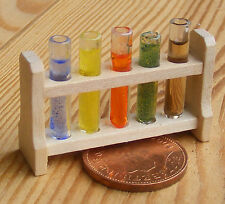 1:12 Filled Glass Test Tubes Chemist Laboratory Accessory Dolls House Miniature