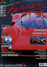 Ferrari World 35 1999 ASA 1000 330 P4 Riva 32 456 GT Station Wagon 275 GTB/2