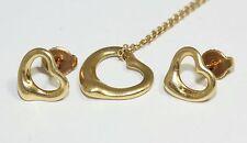 Tiffany & Co 18ct Oro Giallo Elsa Peretti Orecchini e collana Set