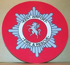 Fire and Rescue Service Kent Airport  vinyl sticker.
