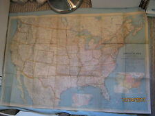 VINTAGE UNITED STATES + CANADA & MEXICO MAP National Geographic December 1940