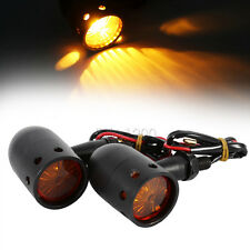 Black CNC Retro Motorcycle Indicators Turn Signals for Harley Cafe Racer Bobbers