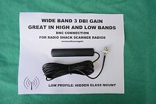 HIDDEN GLASS WINDOW MOUNT BNC ANTENNA FOR RADIO SHACK SCANNER DIGITAL ANALOG BNC
