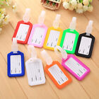 Candy Color Travel Luggage Tags Baggage Suitcase Bag Labels Name Address