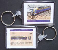 1941 ATSF Santa Fe Class FT No.100 Diesel Train Stamp Keyring (Loco 100)