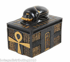 Egyptian Trinket Box Scarab Jewelry Box Black Gold Color