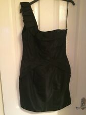 Oasis Ladies Black One Shoulder Beautiful Dress - Size 12 - BNWT