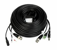 100Ft PTZ Power Video & RS-485 Control Cable for Q-see Zmodo Swann PTZ Cameras