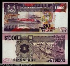 SINGAPORE $1000 1984 SHIP FISH MAP UNC BRUNEI CURRENCY MONEY BILL NOTE Free Ship