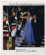 "PUBLICITE ADVERTISING 104 1977 JEAN D'ALBRET ""Ecusson"" eau de toilette"