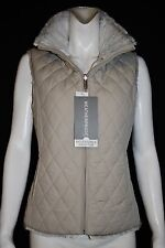 WEATHERPROOF Oatmeal White Reversible Faux Fur Zippered Vest Size M NWT