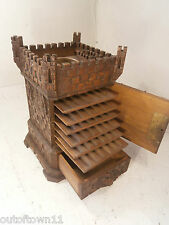 Antique Black Forest Castle Cigar Box    ref443