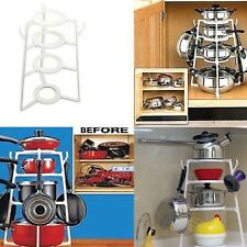 4 Layers Home Kitchen Cookware Organizer Pan Lid Pot Racks Storage Case Holder
