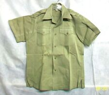 U.S. ARMY 1964 VIETNAM ERA COTTON U.T. KHAKI SHADE #1 QTRLS SS TAN SHIRT - Small