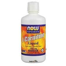Now Foods L-Carnitine Liquid 1000 mg 32 oz, FRESH, FREE SHIPPING ,Made in U.S.A