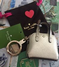 Kate Spade Keychain Things We Love Gold Mini Maise Handbag Keychain NEW$58