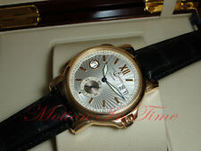 Ulysse Nardin GMT Big Date 42mm 18kt Rose Gold Silver Sunray Dial Ref: 246-55/31