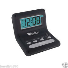 Westclox Travel Alarm Clock. LCD Display  47538A  NEW Westclock West Clock