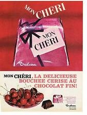 PUBLICITE ADVERTISING  1963   MON CHERI  chocolats