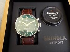 SHINOLA CANFIELD 43MM CRONOGRAPH WATCH-SERIAL #7!