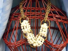 CHICOS CHICO'S WOMEN'S GOLD PEARLS LARGE NECKLACE PENDENT