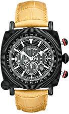 Orologio Nautica spettacolare 1 A44043G uomo pelle beige cronografo acciaio nero