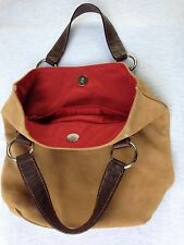 MAURIZIO TAIUTI TAN SUEDE LEATHER TOTE PURSE-MADE IN ITALY-VERY GOOD CONDITION