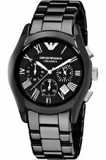 IMPORTED EMPORIO ARMANI AR1400 CERAMIC MENS WATCH CHRONOGRAPH 2YR WARNTY
