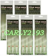 12 X HAIR RIGS BARBLESS SIZE 6 8 10 CARP FISHING TACKLE RIG joblot