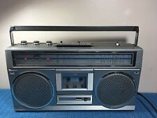 VINTAGE JVC STEREO RADIO CASSETTE RECORDER RC-555JW AC/DC FM,SW 1 & 2 , MW BANDS