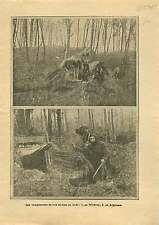 WWI Campement Forêt Soldats Poilus Woëvre & Argonne France War 1915 ILLUSTRATION