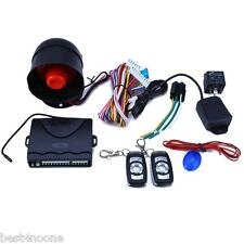 One-Way Car Vehicle Alarm Security Keyless Entry System + 2 Remote Control
