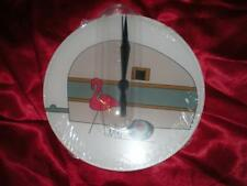 NEW ROUND PINK FLAMINGO RV CAMPER REDNECK ACRYLIC WALL CLOCK CHRISTMAS GIFT