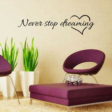 STOP Quote Words Removable Mural Wall Decal Sticker PVC Art Home Room Decor DIY