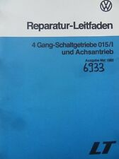 Werkstattbuch Reparaturleitfaden VW LT 1983 4-Gang-Schaltgetriebe 015/l #6933
