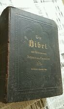 Die Bibel~1906~German Bible,110-year's old~Vintage! Collector's Dream!$110 OBO!