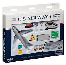 US AIRWAYS Airport Playset DARON RT2691 Plane with airport tug and stair truck