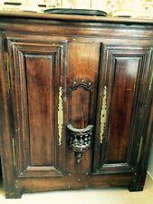 Antiquität Schrank Vertiko Nußbaum um 1880, 2 Türen, Kommode