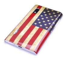 Housse de protection F LG Optimus l5 e610 sac Case Cover usa Amérique drapeau retro