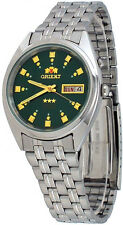 Orient FEM0401NX Men's 3 Star Stainless Steel Dark Green Dial Automatic Watch