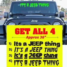 Its a Jeep thing windshield Decal, Its a Jeep thing window decal sticker