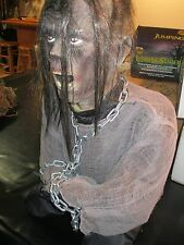 HARD TO FIND PRISONER IN CHAINS ANIMATRONIC LIFE SIZE PROP, VERY RARE,
