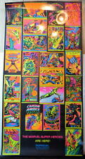 THIRD EYE PROMO BLACK LIGHT POSTER 1971 Marvelmania w ALL 24 Posters RARE