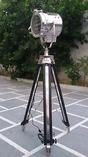 HOLLYWOOD STUDIO FLOOR LAMP SEARCHLIGHT SPOT LIGHT WITH TRIPOD STAND BIG LAMP